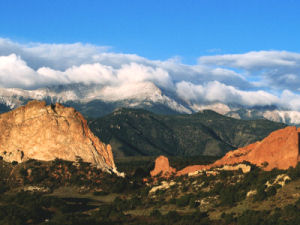 Garden of the Gods, Pike's Peak in background